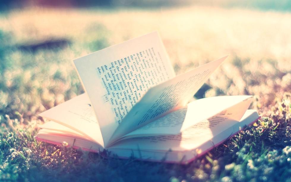 Libro abierto en el suelo-487073